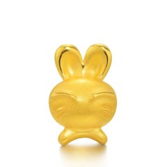 Magifas/Magifas 十二生肖之活泼兔 3D硬金999足金 狗狗本命年手工编织转运珠手绳 四选一图片
