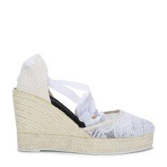 MANEBI白色女士平跟鞋图片