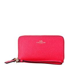 COACH/蔻驰  女士红色真皮中长款手拿包零钱包 F57467图片