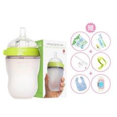 comotomo 可么多么 韩国原装进口宽口径硅胶奶瓶250ml(买一赠十二)图片
