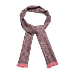 GUCCI/古驰羊毛材质经典logo图案编织女士围巾图片