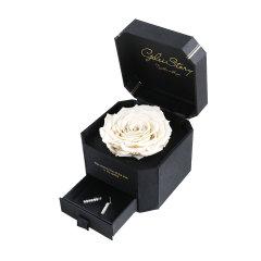 GeleiStory/GeleiStory女作家的白玫瑰限量礼盒伴手礼 送闺蜜 生日礼物情人节送女友 白玫瑰耳钩款  年货节 店铺特惠图片