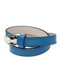 【包税】BVLGARI/宝格丽  女士多色小牛皮手镯 283284蓝色 S图片