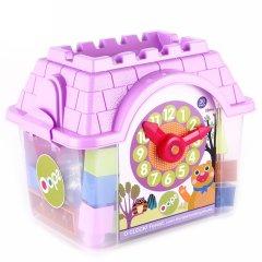 瑞士Oops大颗粒塑料积木 学时间玩具 小房子收纳盒收纳箱图片