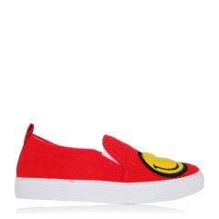 JOSHUA SANDERS/JOSHUA SANDERS 笑脸鞋懒人一脚蹬平跟鞋 10048FSW 红色 35图片