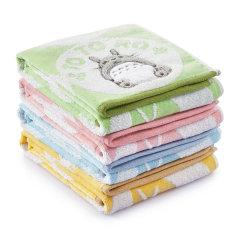 UCHION/内野 毛巾系列 龙猫乐园方巾35*35cm 蓝色图片