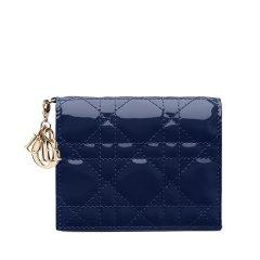 【包税】DIOR/迪奥  经典款Lady Dior女士漆皮短款钱包 (2色可选)图片