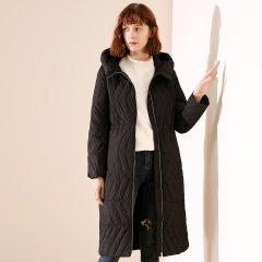 TATU/她图新款时尚简约中长款女式羽绒服 女士羽绒服图片