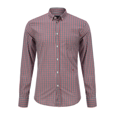 Trussardi/楚莎迪男士衬衫-男士多色格子衬衫图片