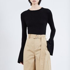 MO&Co./摩安珂女士针织衫/毛衣2018春季新品圆领修身毛衣女针织毛衫上衣MA181SWT318图片