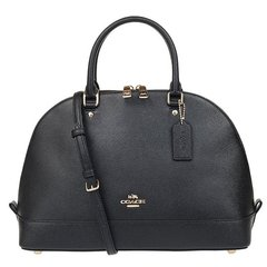 COACH/蔻驰 新款女包 单肩包 手提包 斜挎包 女士 贝壳包 黑色 F57524 IMBLK图片