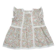 【18春夏】nucollection女童小飞侠纯棉上衣 碎花/白色图片
