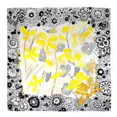 MARJA KURKI/玛丽亚古琦 水墨及手绘艺术印花女士丝巾大方巾图片