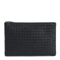 Bottega Veneta/葆蝶家  中性羊皮时尚简约编织男女同款手拿包图片