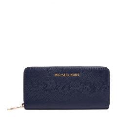 Michael Kors/迈克·科尔斯 MK女士Saffiano皮革 女士海军蓝色钱包32H2MBFE1L图片