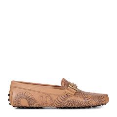 【17春夏新品】Tod's/托德斯女士平跟鞋Tod's Double T 纹身图案豆豆鞋图片