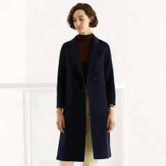 TATU/她图双面羊绒大衣女中长款 韩版中长款加厚毛呢呢子外套女士大衣图片