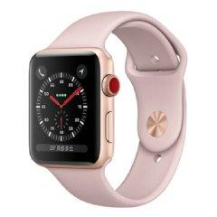 Apple Watch Series 3智能手表 GPS+蜂窝网络款 金色铝金属表壳搭配粉砂色表带 42mm图片