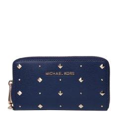 【国内现货】MichaelKors/迈克·科尔斯女士皮质时尚铆钉装饰长款钱夹钱包手拿包图片
