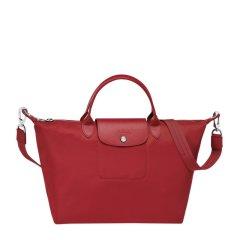 Longchamp珑骧LEPLIAGENÉO系列女士尼龙M号折叠手提包单肩斜挎包深蓝色深蓝色 红色图片