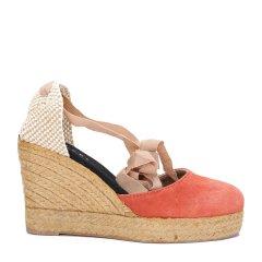MANEBI橙色女士平跟鞋图片