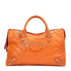 瑕疵折扣 BALENCIAGA/巴黎世家 女士橙色羊皮手提单肩包 281770D94JN7510橙色-瑕疵1图片