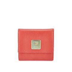 ANNE KAREN/安妮卡尼 糖果色真皮短钱包女士羊皮卡包图片