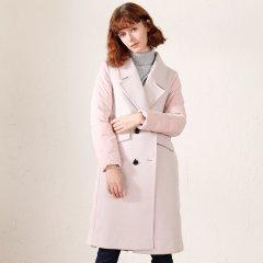 TATU/她图新款羽绒服女  欧洲站西装风羊绒拼接中长款时尚外套女士羽绒服图片