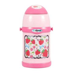 ZOJIRUSHI/象印儿童水壶吸管水杯子不锈钢真空保温杯保冷杯双盖两用泰国进口450ML SC-ZT45图片