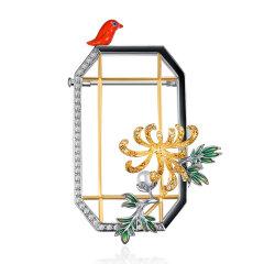 SUMMER PALACE/颐和园 皇家珠宝  胸针项链毛衣链  年会聚会派对PART大衣礼服搭配  秋霜造菊图片