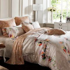 YOLANNA 意式高端床品1.8米床爱波天丝印花夏凉四件套图片