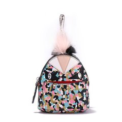 FENDI/芬迪 小恶魔saffiano皮革零钱双肩包款通用钥匙扣图片