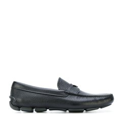 【18春夏】 PRADA/普拉达 100% 牛皮 logo装饰 时尚 黑色 男士乐福鞋 STE图片