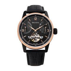 SEA-GULL/海鸥表 商务镂空飞轮单历势能皮带男表自动机械手表219.327图片