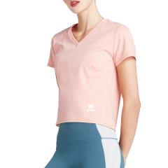 美国HOTSUIT/后秀 运动短袖女 2019夏季 新款V领纯色运动T恤 女式t恤图片