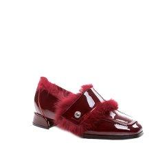 【18秋冬】Ozwear ugg/Ozwear ugg  牛津鞋/皮鞋 漆皮方跟浅口裸靴   358图片