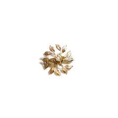 【Designer Jewelry】Avigail Adam美国纽约手工制造艺术风格女式Small系列小叶环形弹簧夹Small Leaf Circle Barette图片