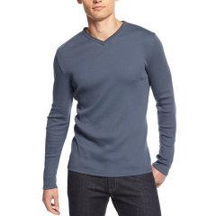 【新款】【免税】Calvin Klein/凯文克莱/ck 新款男长袖V领T-纯色款40ZK232图片
