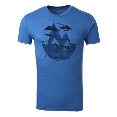 MARMOT/土拨鼠春夏新款男式户外透气舒适超轻棉质针织面料圆领短袖T恤F900454图片
