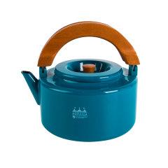 CB JAPAN 进口北欧系列原木柄泡煮两用珐琅壶 家用日式彩色2.3L烧水壶图片