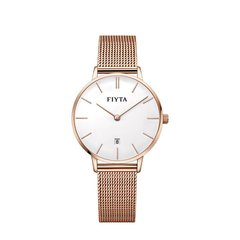 FIYTA/飞亚达 手表女防水女士石英表潮流玫瑰金简约女表编织带学生手表图片
