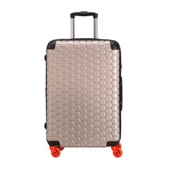 CARPISA/CARPISA 中性款式男女通用树脂/聚碳酸酯蜂窝状图案万向轮旅行箱行李箱拉杆箱 26寸图片