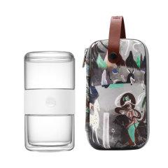 哲品家居九色鹿派杯便携旅行户外玻璃茶具单人套装茶水分离泡茶杯图片