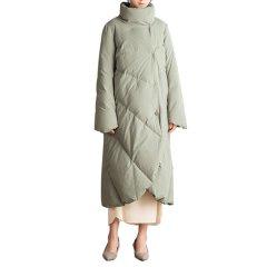 SHENGJIANG/生姜原创2018新款冬装面包领羽绒服女加厚长款白鸭绒外套女士羽图片