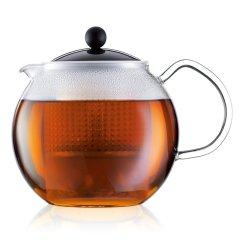 丹麦bodum波顿阿萨姆系列滤压茶壶进口 耐热玻璃家用带茶滤网水壶1000ml图片