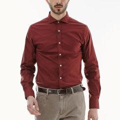 Vittorio Di Giacomo/迪伽默男士休闲红色长袖衬衫—男士衬衫图片
