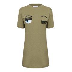 CHIARA FERRAGNI/CHIARA FERRAGNI 【17春夏】圆领纯棉眼睛图案女士短袖T恤 CFT001图片