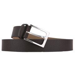 HUGO BOSS/雨果波士 男士BLACK系列黑色牛皮针扣式皮带腰带 50322073 001 100图片