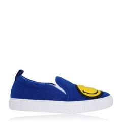 JOSHUA SANDERS/JOSHUA SANDERS 笑脸鞋懒人一脚蹬平跟鞋 10048FSW 蓝色 35图片
