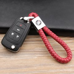 pinganzhe 别克专用汽车新款带车标钥匙扣 手编织真牛皮钥匙链 钥匙圈锁匙环 男士女士 创意 汽车用品图片
